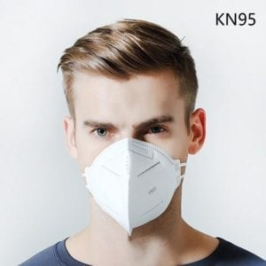 man wearing kn95 face mask
